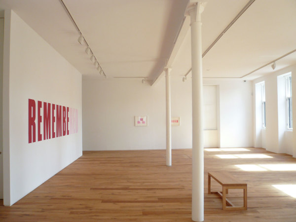 Installation view of the exhibition Huen at Ingleby Gallery, August 2008